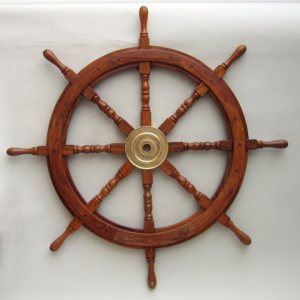 """#4 Wooden Ship Steering Wheel, 48"""" Boat Steering Wheel Has The Most Sales, 4 Sizes Starting @$57.95"""
